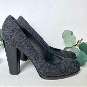 Stuart Weitzman wool block heels